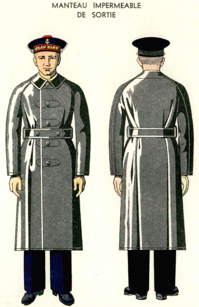 Manteau imperméable Matelot/QM/Officier Marinier 1938 Mantea10