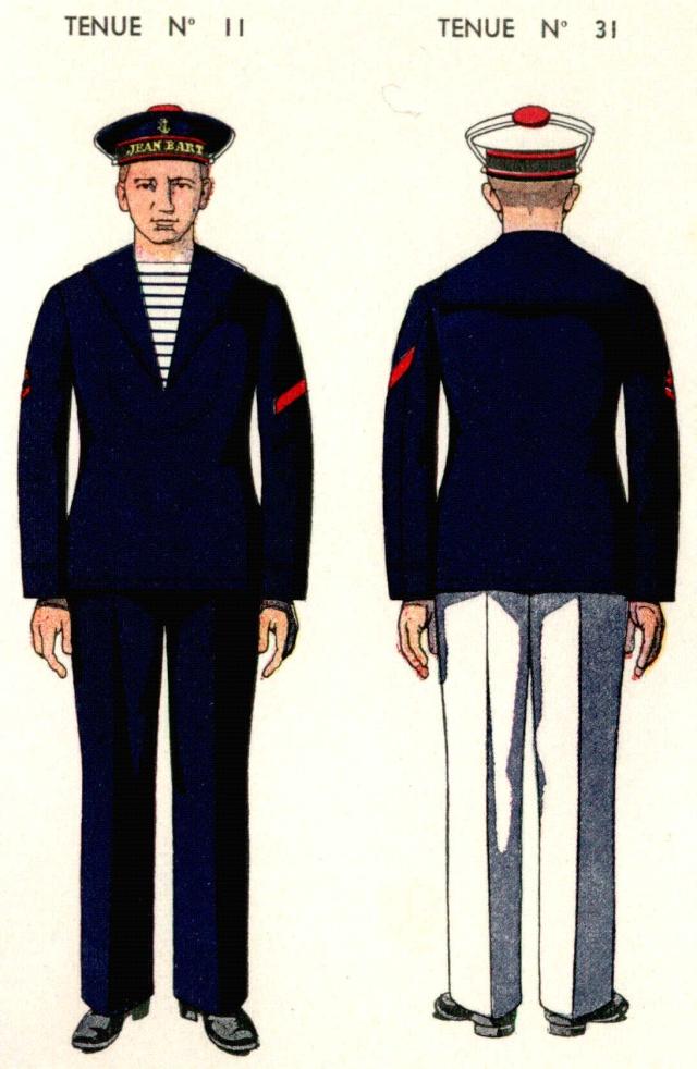 Uniforme Matelot breveté provisoire 1938 - Source planches Marine Nationale 1938 Mlotbr10