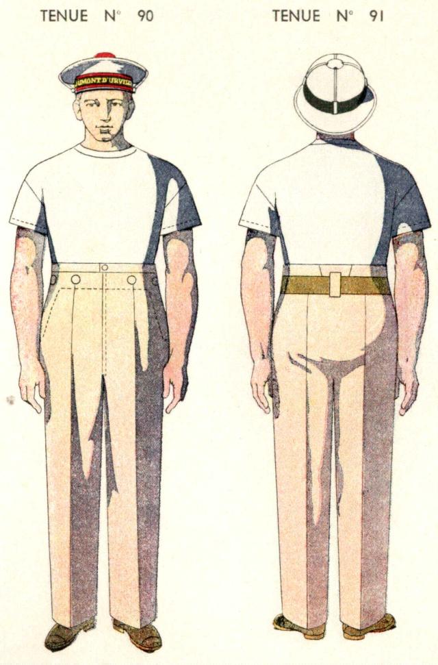 Uniforme Matelot breveté Tropical 1938  - Source planches Marine Nationale 1938 Mlotbr12