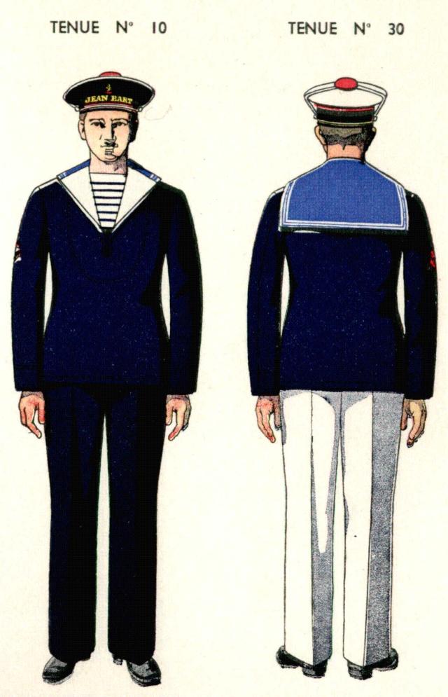 Uniforme Matelot sans spécialité 1938 - Source planches Marine Nationale 1938 Mlotss10