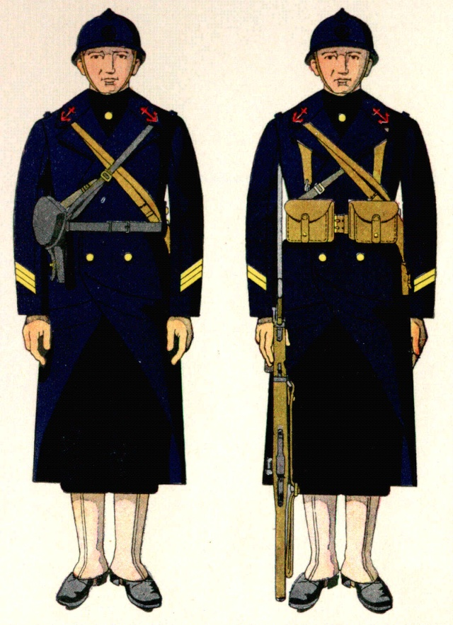 Uniforme d'Officiers Mariniers débarquement  1938 - Source planches Marine Nationale 1938 Omdeba10