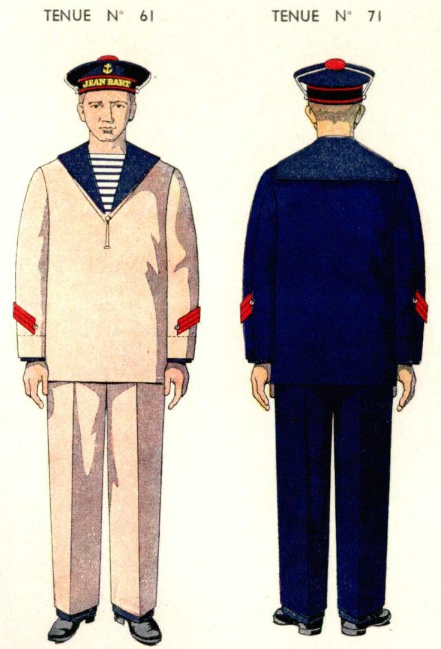 Uniforme de Quartier Maître 1ere classe 1938 - Source planches Marine Nationale 1938 Qm1211