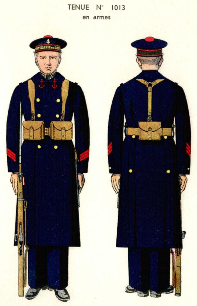 Uniforme de Quartier Maître 1ere classe (en armes) 1938 - Source planches Marine Nationale 1938 Qm1410