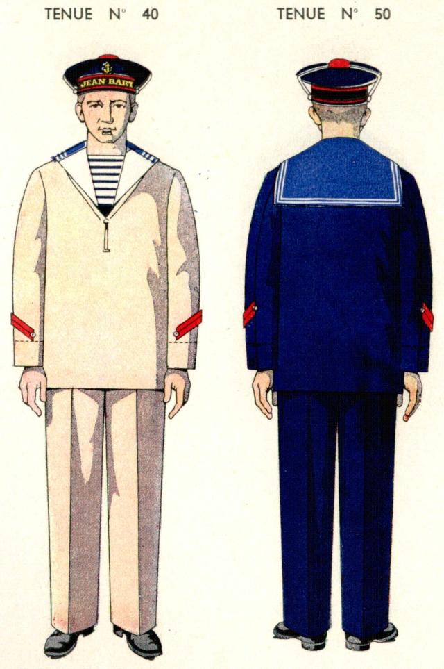 Uniforme de Quartier Maitre 2eme classe 1938 (travail)- Source planches Marine Nationale 1938 Qm210