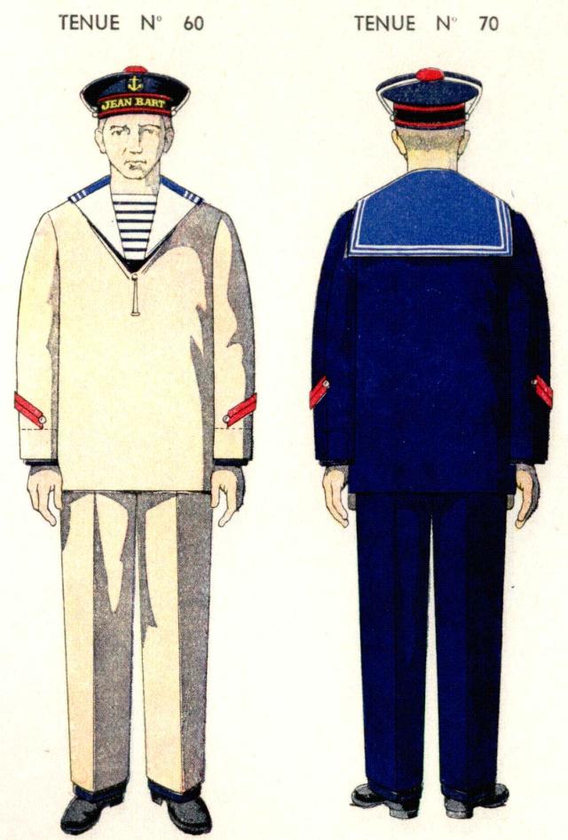 Uniforme de Quartier Maitre 2eme classe 1938 - Source planches Marine Nationale 1938 Qm2210