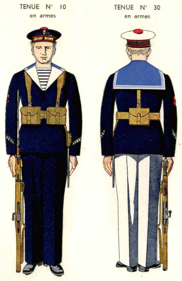 Uniforme de Quartier Maître provenant de l'ecole de Maistrance (en armes)1938 - Source planches Marine Nationale 1938 Qmmais10