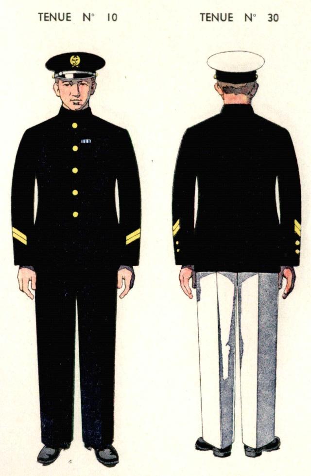 Uniforme de Second Maître 1938 - Source planches Marine Nationale 1938 Sdmait10