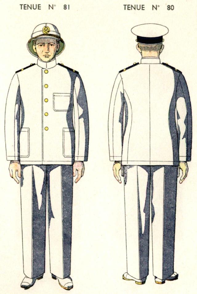 Uniforme de Second Maître pays chauds 1938 - Source planches Marine Nationale 1938 Sdmait11