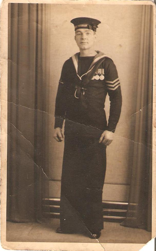 Class II All Petty Officers and men dressed as seamen uniform. Seaman10