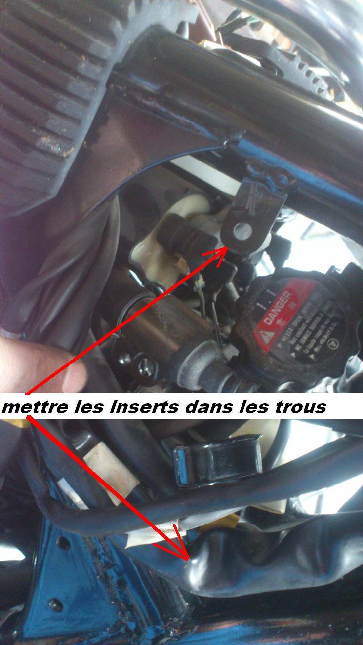 VT1100 shadow : modification des fixations caches plastiques de cadre  Rivets11