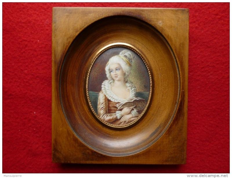 Miniature de Madame de Polignac d'après Madame Vigée Lebrun 934_0010