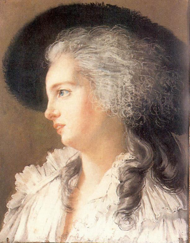 Le profil de la duchesse de Polignac par Elisabeth Vigée-Lebrun Ob_a0110