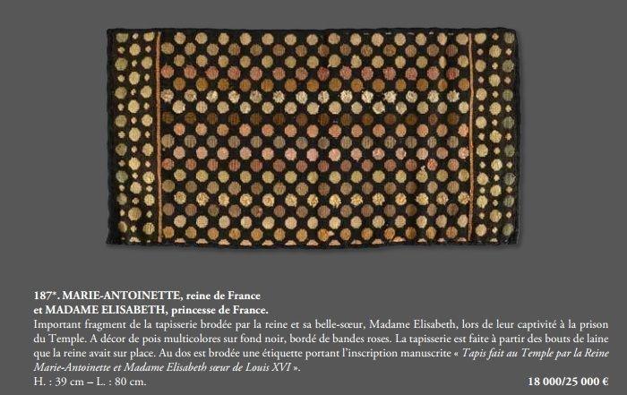 Vente de Souvenirs Historiques - aux enchères plusieurs reliques de la Reine Marie-Antoinette - Page 4 Tylych11