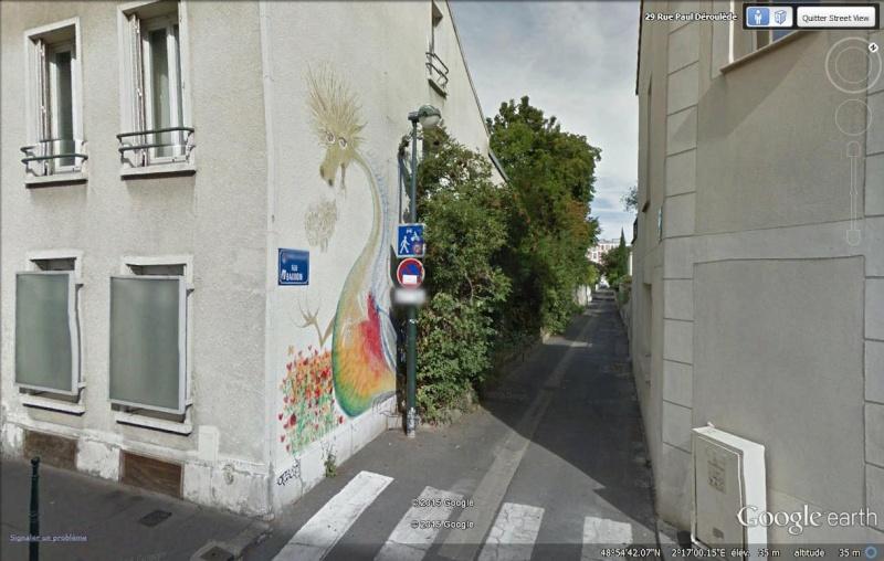 STREET VIEW: Le dragon de la Rue Baudoin à Asnières-sur-Seine Dragon12