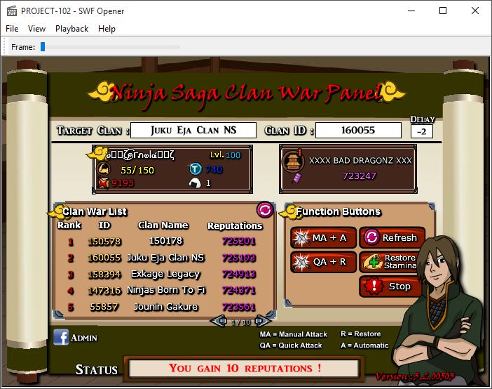 NinjaSaga CLAN WAR PANEL Sscp10