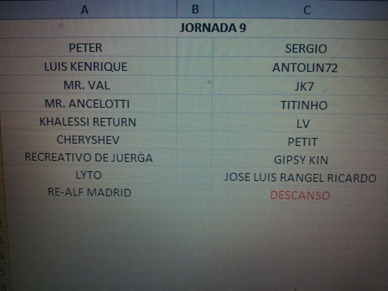 CALENDARIO Jornad18