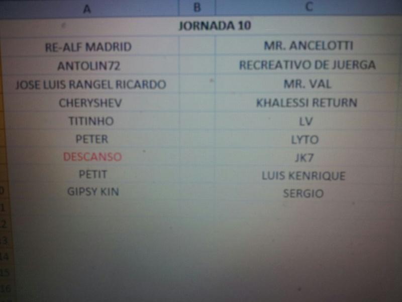 CALENDARIO Jornad19