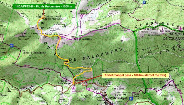 Col de Portet d'Aspet - Pic de Paloumère Map10