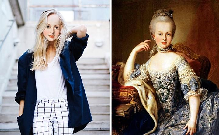 Marie-Antoinette en hipster Lone-w10