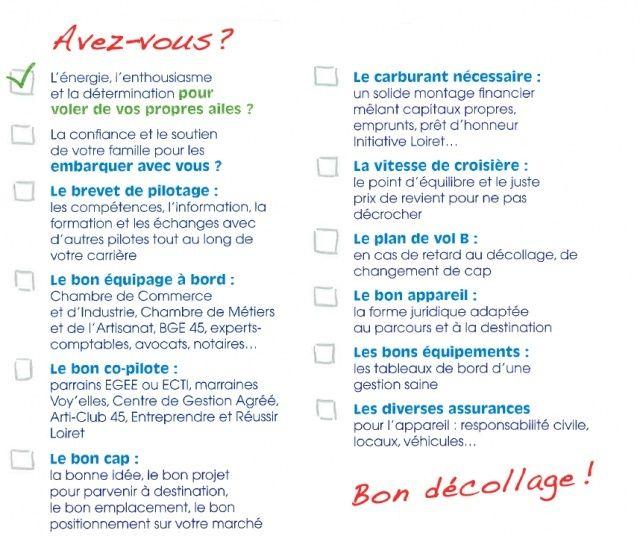La checklist Initiative Loiret 12108210