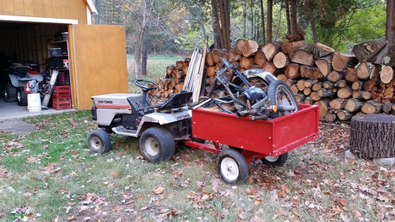 Dustin's 1986 Craftsman Woods Tractor - Full Suspension, Electric Conversion 20151015