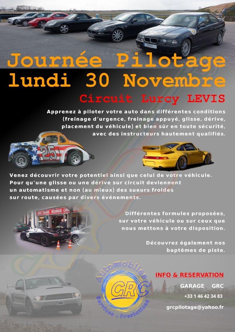 [Lurcy Lévis] lundi 30 novembre 2015 Journée privée Garage GRC Affich10