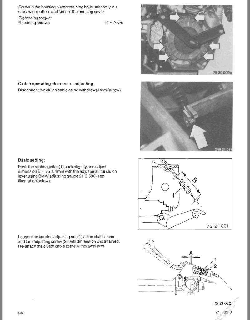 Clutch Cable adjustment 86 K75 Image18