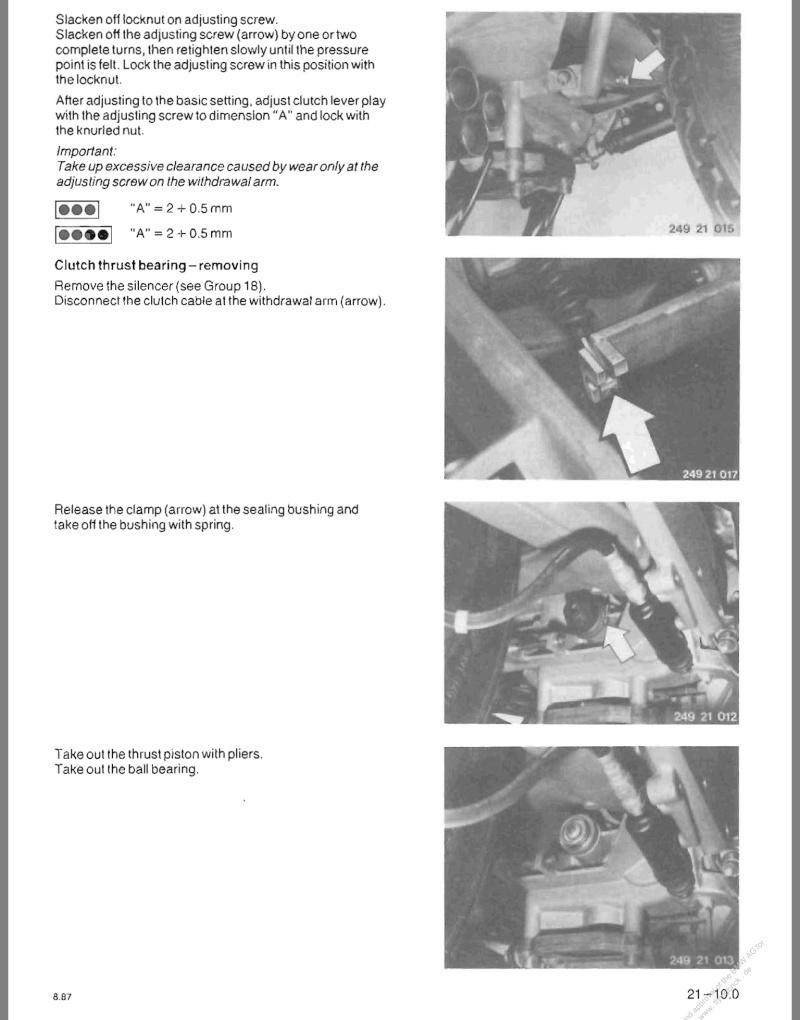 Clutch Cable adjustment 86 K75 Image19