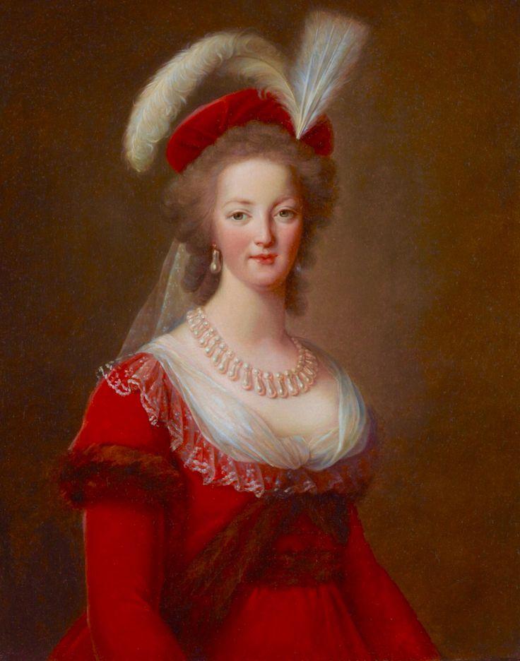 Marie-Antoinette en robe rouge sans ses enfants B48da910