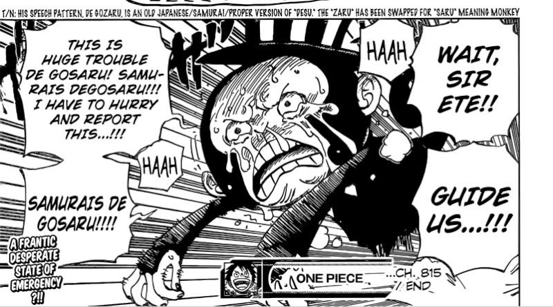 One Piece Kapitel 815: Nimm mich mit !! 81510
