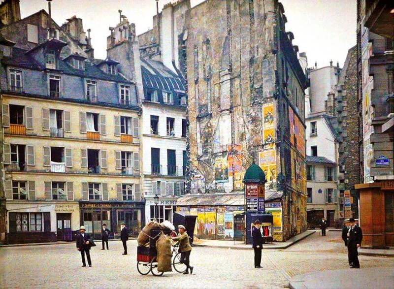 De rares photos en couleurs de Paris prises il y a 100 ans. Photos13