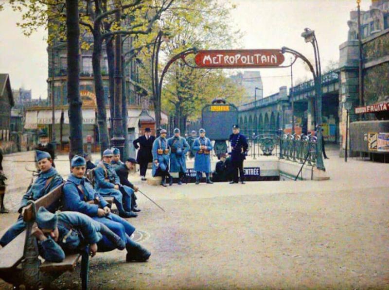 De rares photos en couleurs de Paris prises il y a 100 ans. Photos14