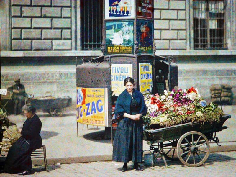 De rares photos en couleurs de Paris prises il y a 100 ans. Photos16