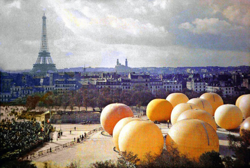 De rares photos en couleurs de Paris prises il y a 100 ans. Photos17