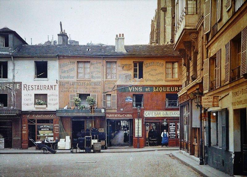 De rares photos en couleurs de Paris prises il y a 100 ans. Photos18