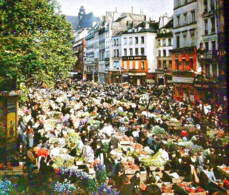 De rares photos en couleurs de Paris prises il y a 100 ans. Photos19