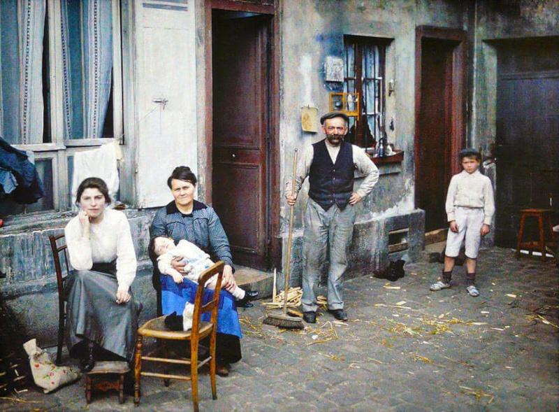 De rares photos en couleurs de Paris prises il y a 100 ans. Photos21