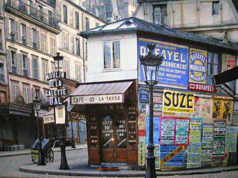 De rares photos en couleurs de Paris prises il y a 100 ans. Photos24