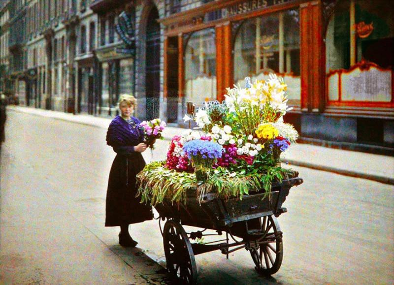 De rares photos en couleurs de Paris prises il y a 100 ans. Photos28