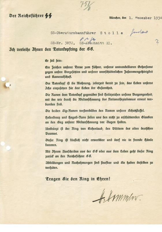 Comment peut bien valoir la signature de H Himmler ? 5121711