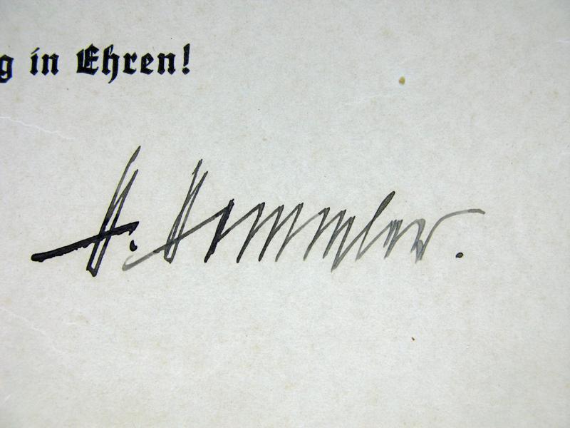 Comment peut bien valoir la signature de H Himmler ? 51217e10