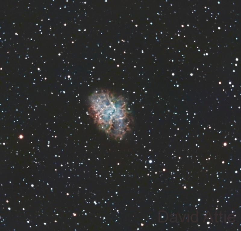 De l'APN vers la CCD, Nebuleuse du Crabe, derrière un C11 M110