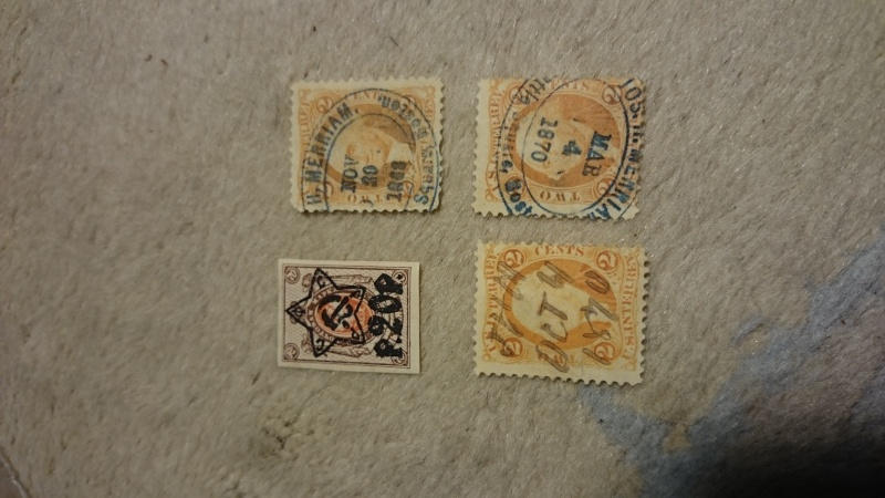 3x USA von 1870 und eine Sowjetische Briefmarke Dsc_3310