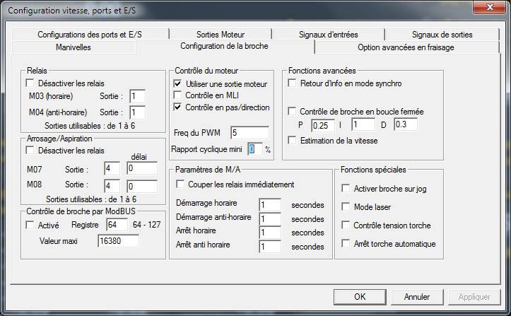 configurer mach3 pour pilotage vfd via rs485 Config13