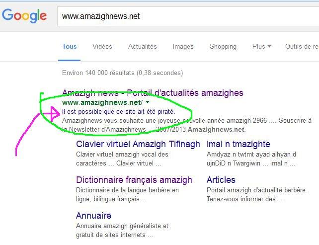 pirate - Amazighnews.net  est il brouillé ou piraté ? Amazig13