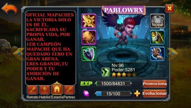 TOP 1 DE GRAN ARENA Pablow13