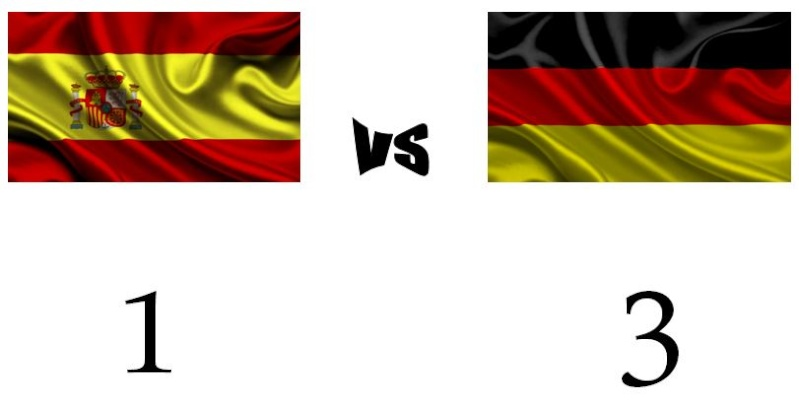 1º MATCH SPAIN vs GERMANY Result12