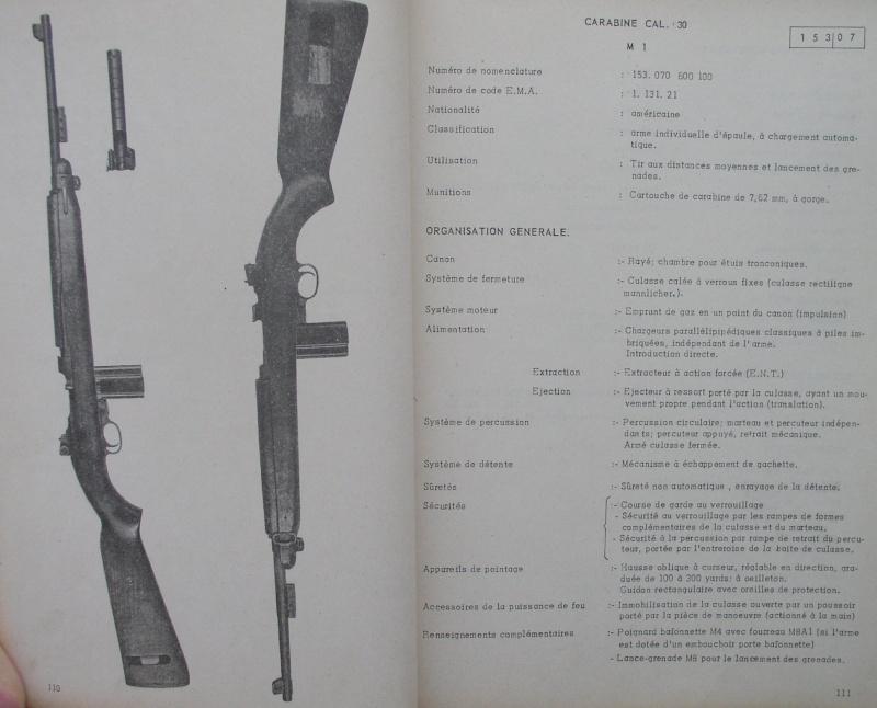 catalogue répertoire des armes légères et affuts en service dans l'armée française MAT 1191 1014