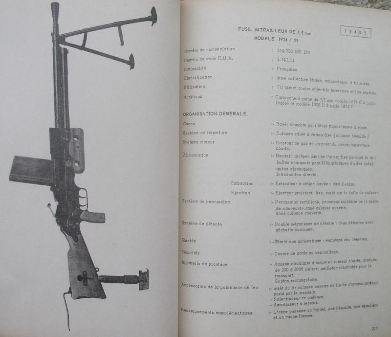 catalogue répertoire des armes légères et affuts en service dans l'armée française MAT 1191 2513