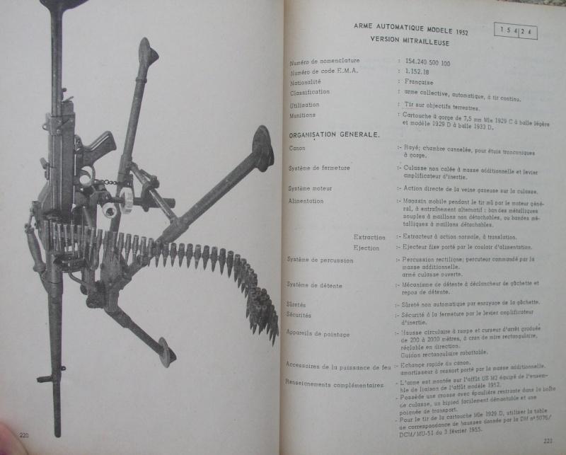 catalogue répertoire des armes légères et affuts en service dans l'armée française MAT 1191 2813
